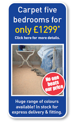 Carpet five bedrooms for only £1299*